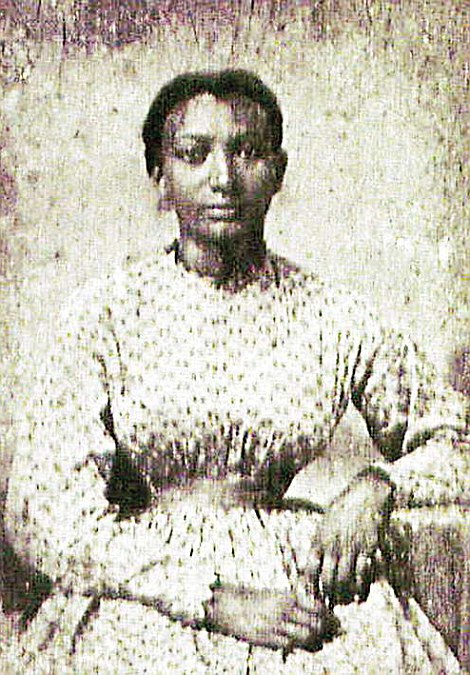 Celestine Josephine Lacey, seen right and known to her family as 'Tine', grew up to be a handsome woman with the same striking eyes as Beyonce.