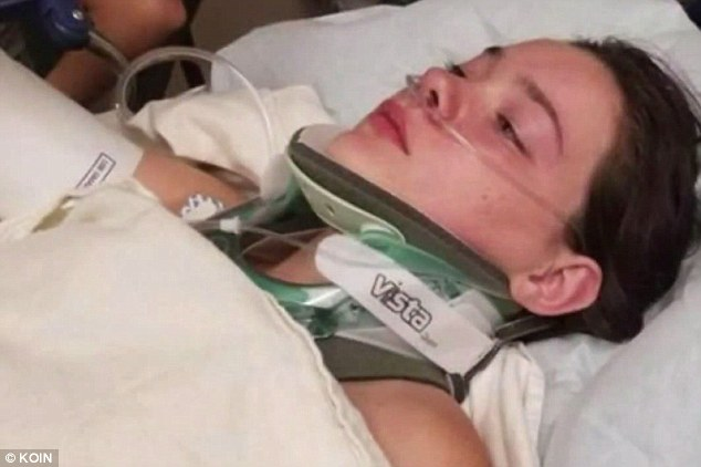 Jordan suffered five cracked ribs and internal injuries. She also suffered a bruised esophagus, an injured trachea, air bubbles in her chest and a punctured lung