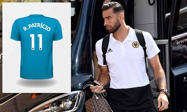 4f9d5fdd849 New Wolves goalkeeper Rui Patricio to wear No 11 this season as No 1 is left