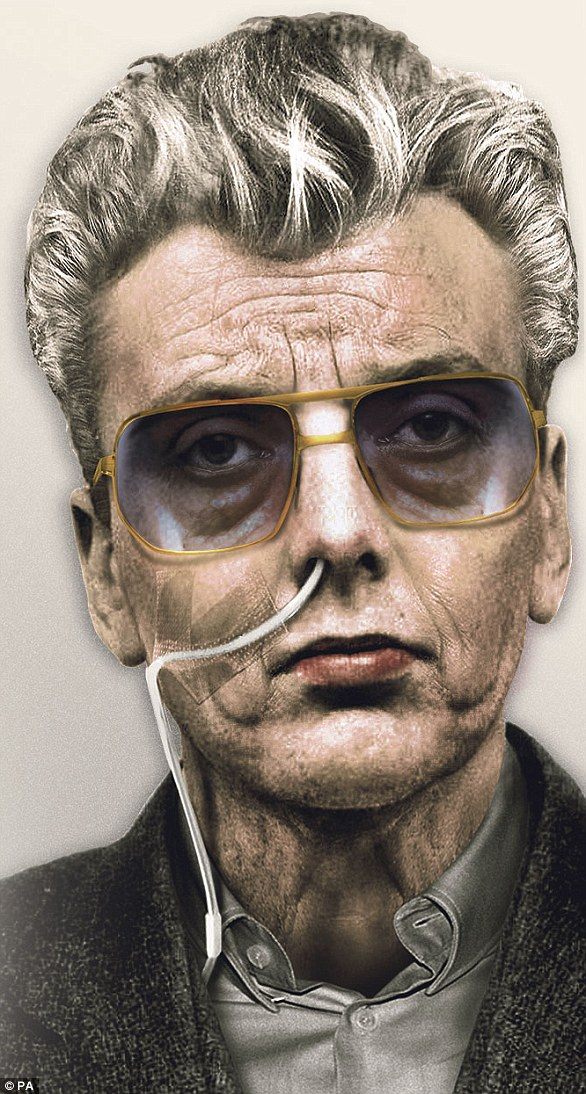 An artist's impression of how Moors Murderer Ian Brady before he died in May 2017 of cancer