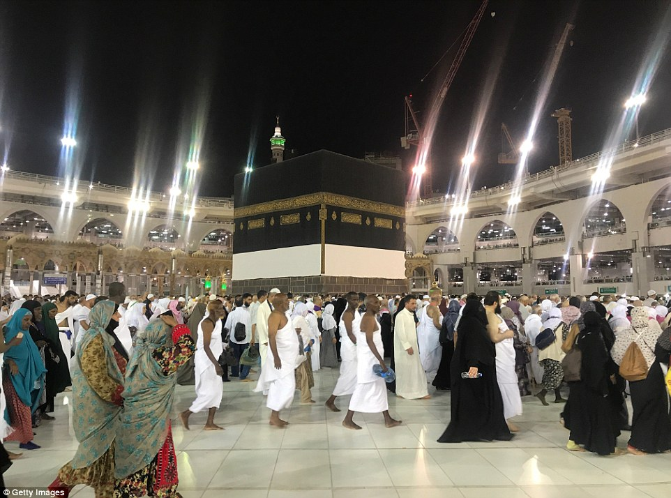 Many Muslims have already started to circle the Kaaba (pictured) ready for the Hajj 2018 which begins in just over a week
