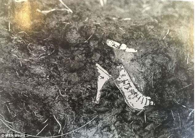 The white stilettos discarded in the mud. They belonged to murder victim Pauline Reade and have been handed back by police 31 years after her body was found