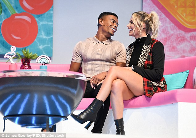 I only have eyes for you: The lovebirds were inseparable as they sat on the stage together