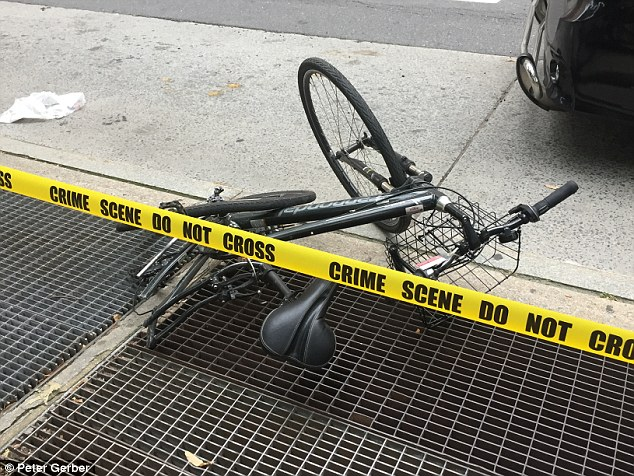 The 23-year-old woman, named by NBC New York as Madison Jane Lyden, was riding a bicycle past Central Park in New York's City's Upper West Side at about 5pm on Friday when she was struck and killed