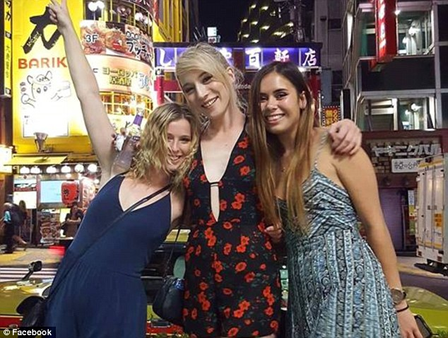Lyden (centre) was on a trip in the United States with friends when she was killed while riding a bike near New York City's Central Park on Friday (US time)