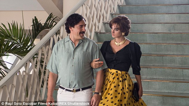 Javier Bardem and Penelope Cruz as Pablo Escobar and Virginia Vallejo in the film Loving Pablo