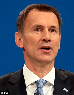 Ambassador Woody Johnson urged the UK to rethink its position after Jeremy Hunt (pictured) voiced concern about the US pulling out of the deal