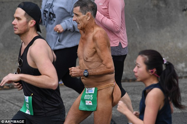 Superheroes, pirates, minions and streakers were among those who dressed up for the race