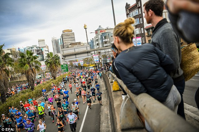 Thousands of runners completed the race, managing to raise nearly $5million for more than 1000 charities
