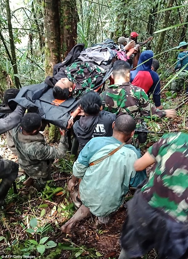 Papua military spokesman Lieutenant colonel Dax Sianturi said an investigation would be carried out but 'at the moment the cause of the crash has not been confirmed.'