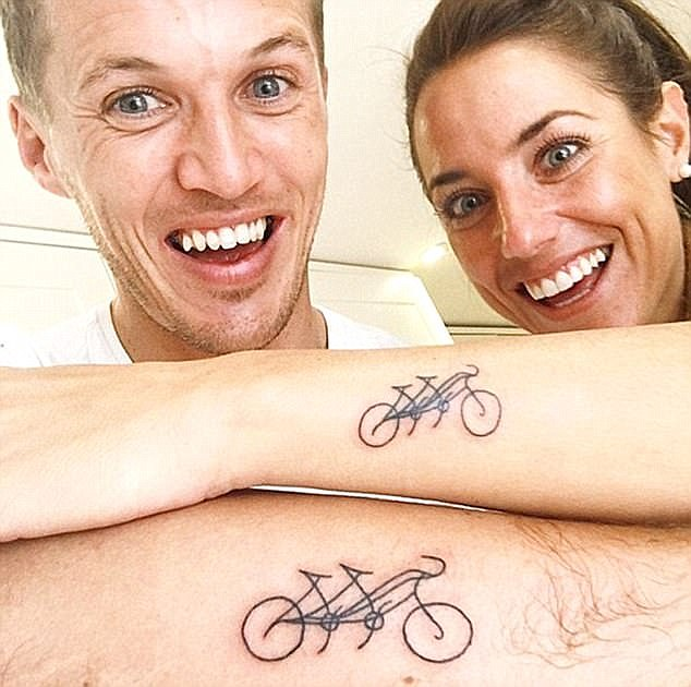 Jake described his late wife as 'My co-captain on my bike. My best friend. My lobster. My wife. And truly my hero'
