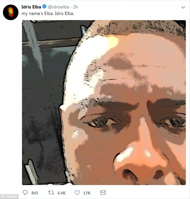 New role?Idris Elba has sent James Bond fans into a frenzy with a cryptic tweet, suggesting he could be signing up to be the new 007