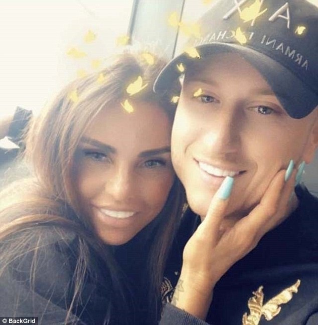 Smitten: The TV personality has since found love again with Kris Boyson, 29, who she met through her son Harvey's new fitness plan