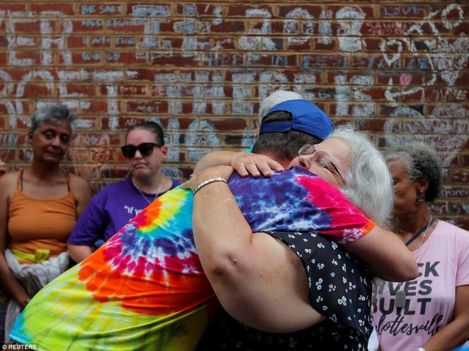 Several people hugged Bro who spoke about remembering her daughter a year after her tragic death