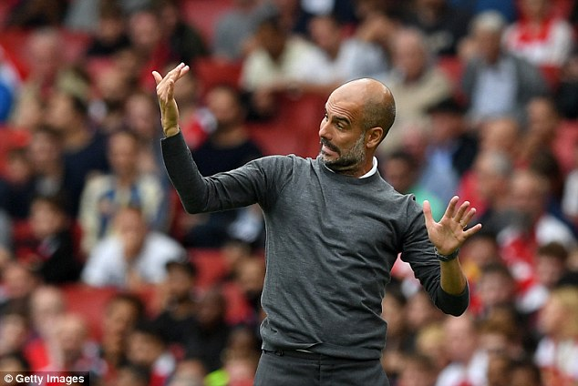 Guardiola was pleased with the overall performance of his City team at the Emirates Stadium