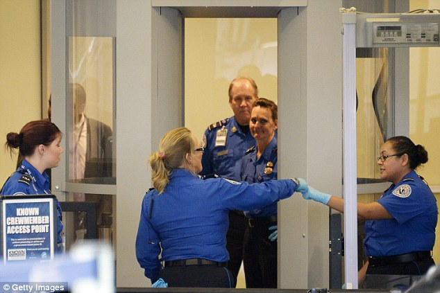 Westchester chiropractor Mark Frey, 61, was passing through Palm Beach International Airport when a TSA agent allegedly fondled his genitals, file image above