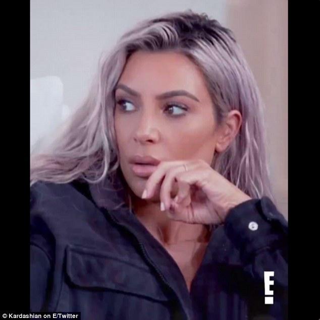 Argument: Die Auseinandersetzung zwischen Kourtney Kardashian und ihren Schwestern Kim (im Bild) und Khloe wird sie wahrscheinlich in der Show bedrohen