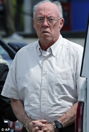 Rev. John Sweeney (pictured in July 2017) after admitting forcing a boy to perform oral sex on him in 1992