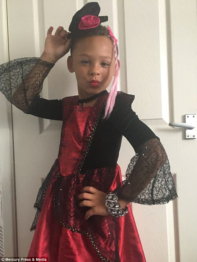 Fabian Butler, eight, from Gwentwho loves transforming himself into his drag alter ego Francesca (pictured in costume) and was inspired by hit TV show Ru Paul's Drag Race