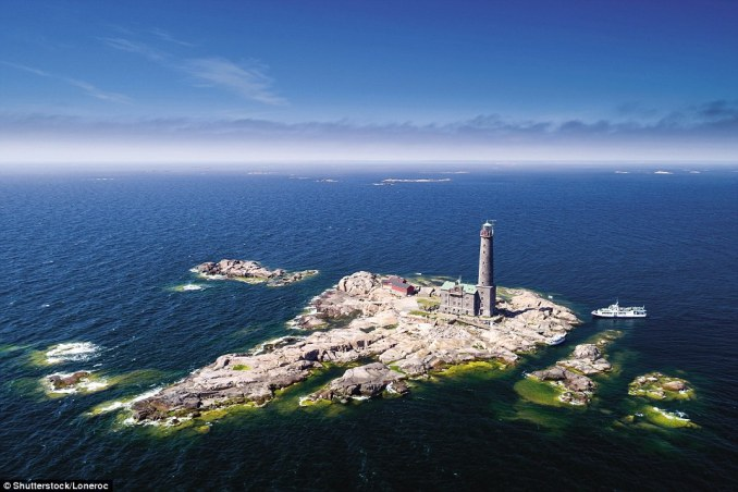The tallest lighthouse of the Nordic countries, standing on a rocky islet at the mouth of the Gulf of Finland, the Bengtskär Lighthouse in Finland rises 151ft above the rock. Built of local granite in 1906, it was converted to windpower electricity in 1983, and renovated in the 1990s. It emits three white flashes every 20 seconds