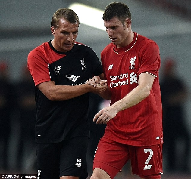 Rodgers brought Milner to Liverpool on a free transfer from Manchester City in 2015