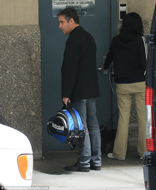 Cohen's bat: The former lawyer of the president slipped through a side entrance with a tennis racket in his home in New York. He has not made a public statement since he pleaded guilty, but his lawyer has accused the president of committing a crime
