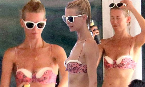 Claudia Schiffer shows off her physique in tiny two-piece ...