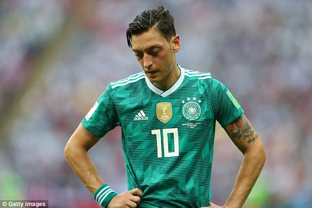 The Arsenal midfielder came under fire as Germany were eliminated at the group stage