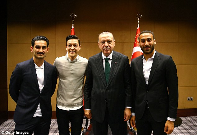 The pair were criticised before the tournament for meeting Turkish president Recep Erdogan