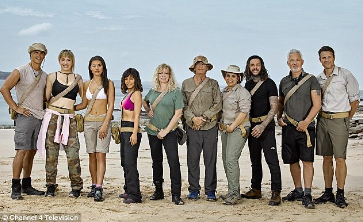 Martin Kemp claims the island was like rehab and after he returned home the little things that would've annoyed him before didn't seem like such a big deal. Pictured, left to right: Anthony Ogogo, Paris Lees, Montana Brown, Roxanne Pallett, Jo Wood, Eric Roberts, Pete Wicks, Martin Kemp and James Cracknell