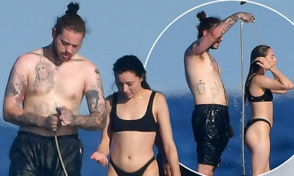 Post Malone and Ashlen Diaz relax on yacht in Saint-Tropez ...