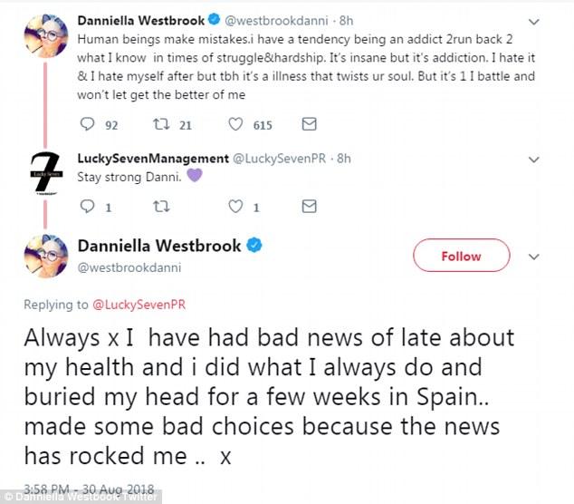 Défis: la blonde a avoué qu'elle s'était envolée vers son point chaud de vacances en Espagne pour s'évader de son stress