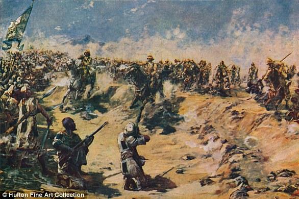 British Lancers charging at Omdurman in 1898 as British troops took control of Sudan in the Mahdist War
