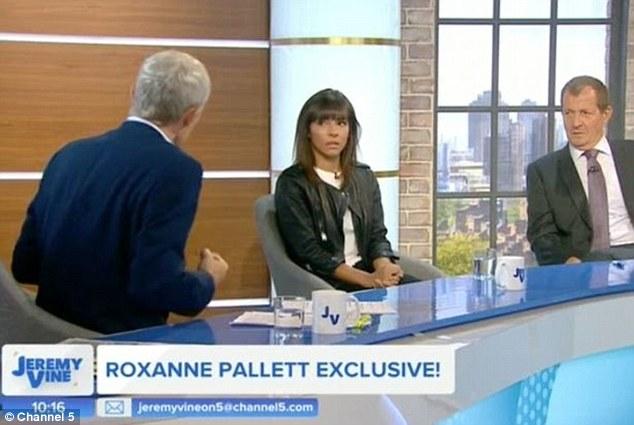 """Ihre Seite: Roxanne erklärte ihre Seite der Geschichte in der Jeremy Vine Show am Montag und später am Abend in der CBB, wurde aber von einer Reihe ihrer ehemaligen Kollegen als """"erbärmlich"""" bezeichnet"""