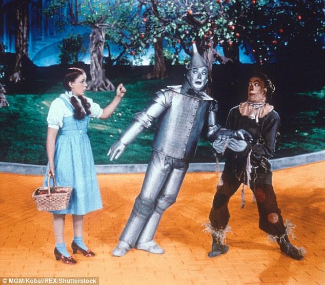 Judy Garland, Jack Haley, Ray Bolger du magicien d'Oz en 1939