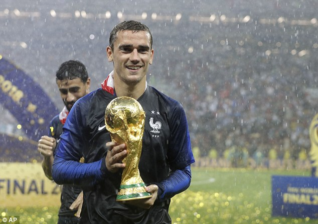 Antoine Griezmann is surprised none of France's World Cup winners made The Best shortlist