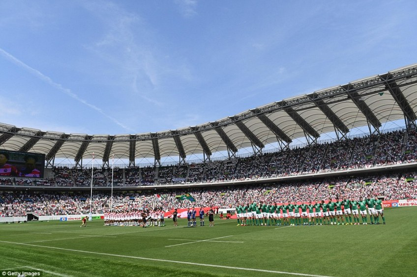 Ireland have already played at the stadium, and recently, too – they beat Japan 35-13 there last June in a friendly