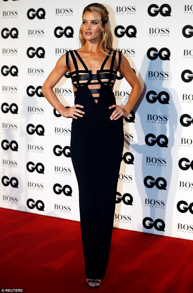 GQ Men Of The Year Awards  Rosie Huntington-Whiteley shows off her  incredible 4e3047841