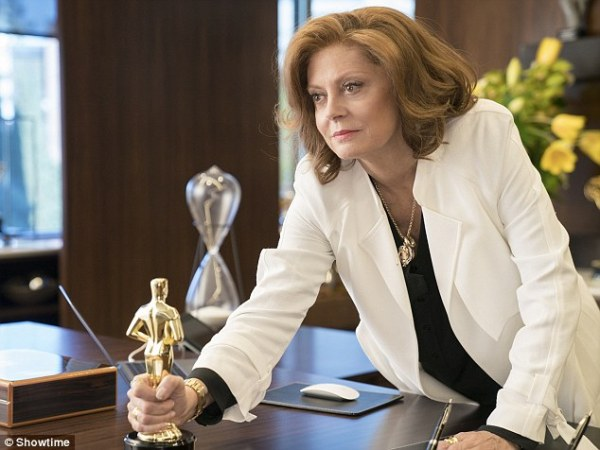 Susan Sarandon means business as she suits up in sharp ...