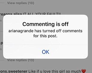 La section des commentaires a été rapidement suspendue