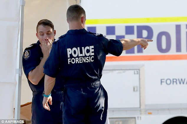 'It is a tragic thing when incidents like this occur. It does send a ripple through the community of Western Australia,' saidAssistant Commissioner Metropolitan Region Paul Steel (pictured are police at the scene)