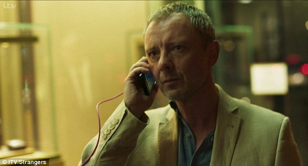 ITV series Strangers, from the brothers behind hit BBC series The Missing, centres around British Professor Jonah Mulray, played by John Simm (pictured), whose life is turned upside down when his wife, Megan Harris, is killed in a car crash in Hong Kong. He arrives in the city to discover she had been living a double life with a husband and their teenage daughter