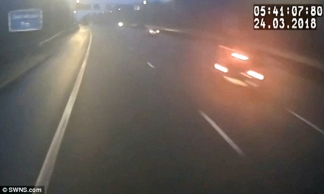 Radu completes the move before a car hits him, and then a lorry, resulting in fatality