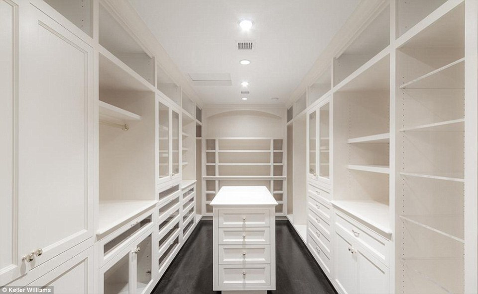 The house would suite a glamorous new owner as it comes equipped with space to store a very expansive wardrobe