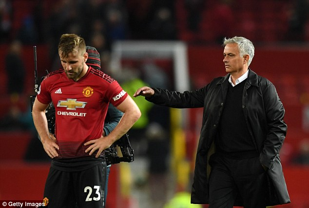 Shaw (left) suffered a nasty head injury in England's defeat to Spain on Saturday