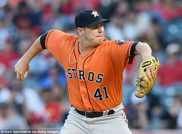 Houston Astros pitcher Brad Peacock (pictured, July 21) is the latest baseball player to come down with hand-foot-and-mouth disease