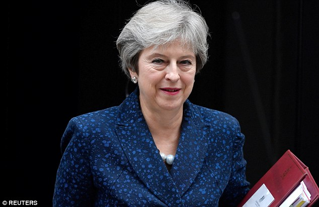 The Prime Minister's (pictured yesterday in Downing Street) Brexit blueprint imagines Britain following EU rules on goods to maintain existing trade, while striking out in other areas such as services