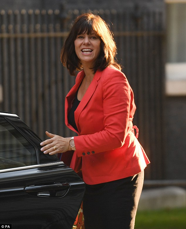 Business minister Claire Perry (pictured) was also at the no-deal planning meeting in Downing Street today