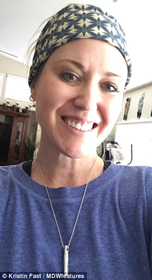 Mother-of-two Kristin Fast, 42 (pictured) from Phoenix, Arizona, ruptured her ACL in February 2018 and was told she needed surgery