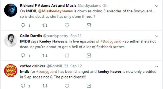 Spekulation: Fans haben Twitter mit aufgeregten Kommentaren überschwemmt, nachdem sie den Kredit gesehen haben